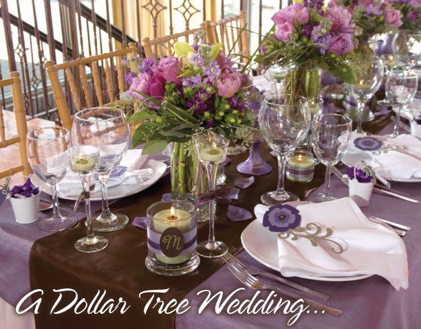 Hmmm really cool inexpensive wedding  ideas from the dollar tree
