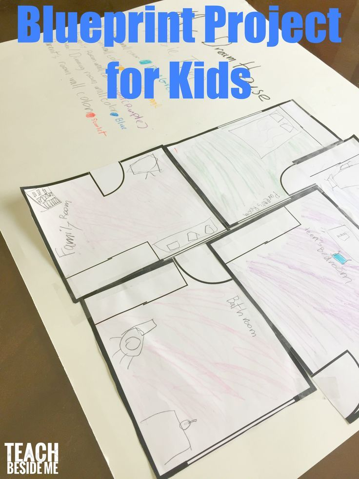 Teaching blueprints and architecture to kids- inspired by Frank Lloyd Wright via @karyntripp