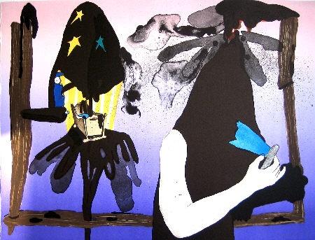 mie mørkeberg, untitled, 2006, litography, 36 x 47 cm, ed. 150