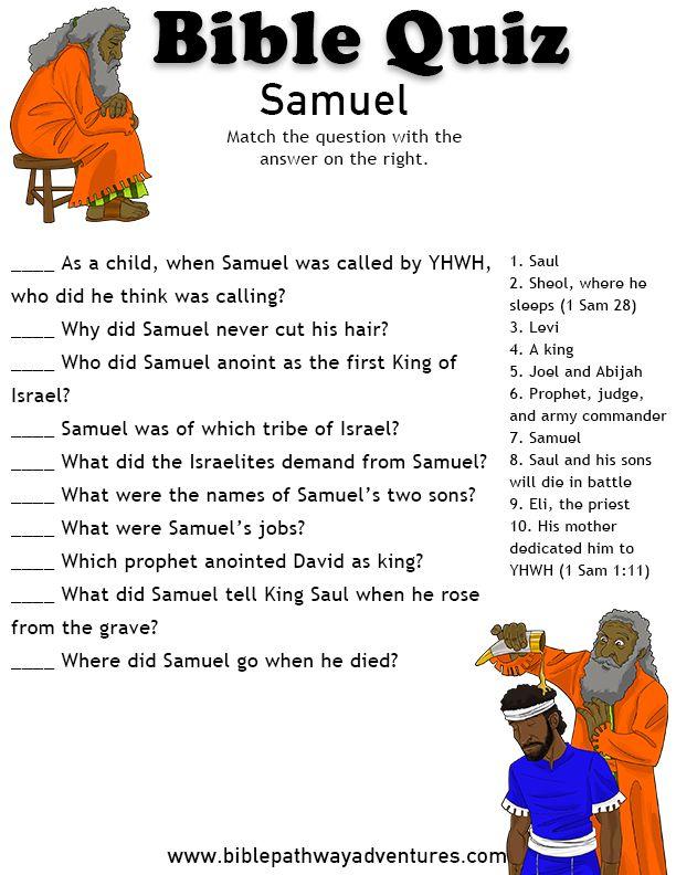 Printable bible quiz - Samuel