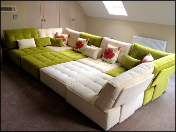 Modular Floor Cushions Sofas In 2020 Cushions On Sofa Cinema Room Colorful Couch
