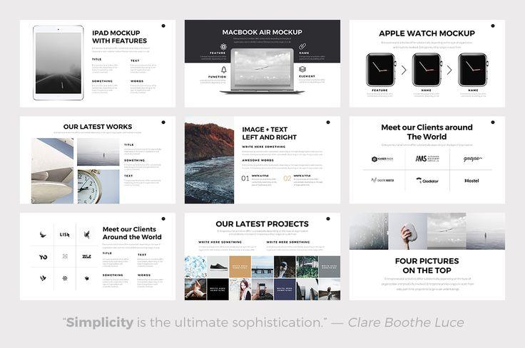Nova Minimal PowerPoint Template by Slidedizer on @creativemarket