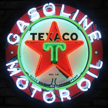 Click to find out more about Texaco Gasoline Motor Oil  Neon Sign