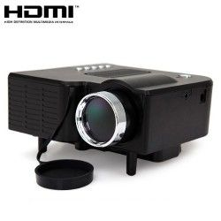 24W Mini Multimedia LCD Image System LED Projector with SD / USB / AV / VGA /HDMI Port
