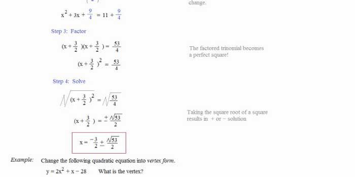 21 Solving Quadratic Equations By Completing The Square Worksheet