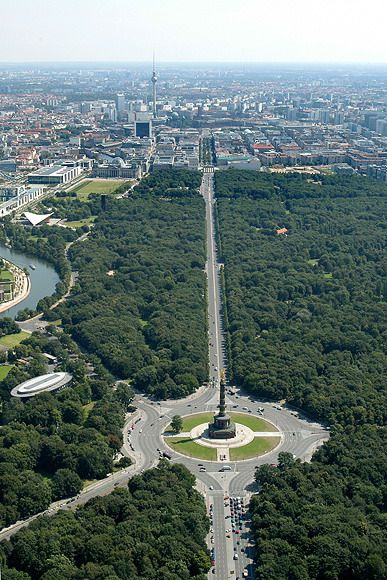 Tiergarten and the Victory Column, Berlin