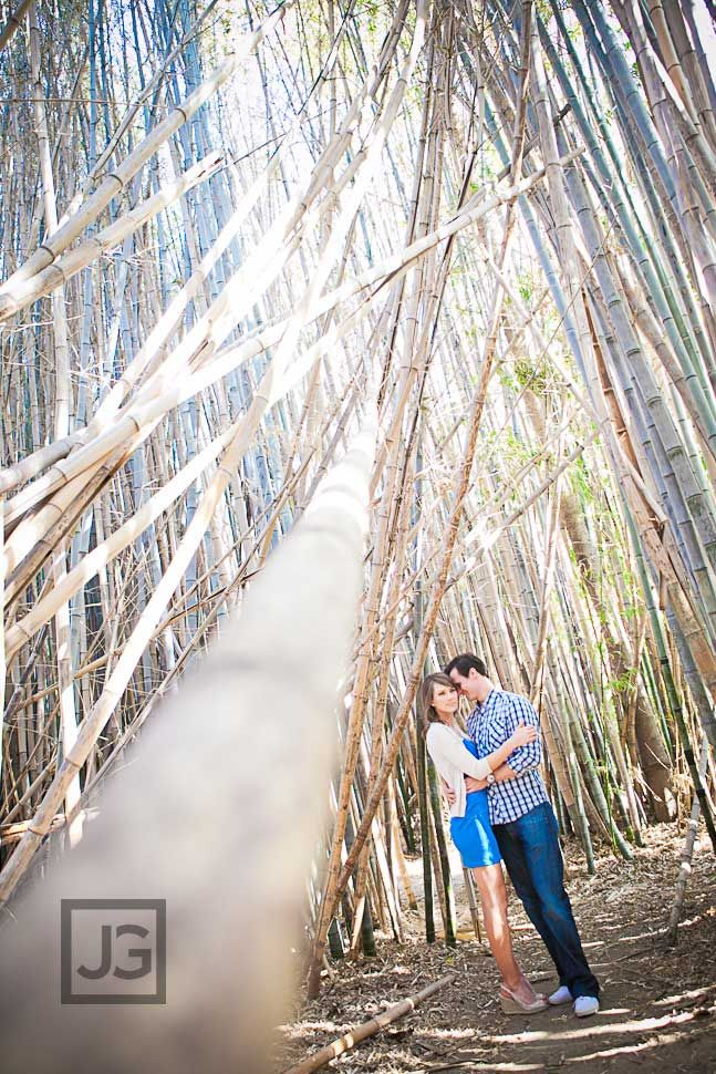 Creative and fun engagement photography los angeles la arboretum