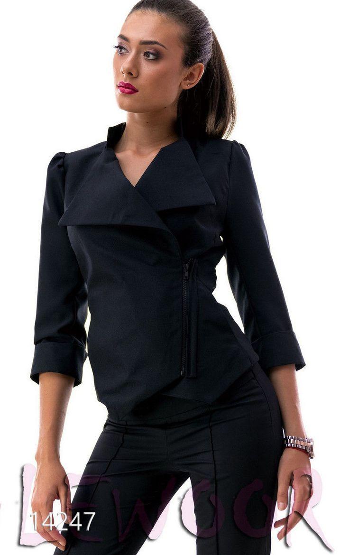 Пиджак для модниц из габардина - купить оптом и в розницу, интернет-магазин женской одежды lewoor.com