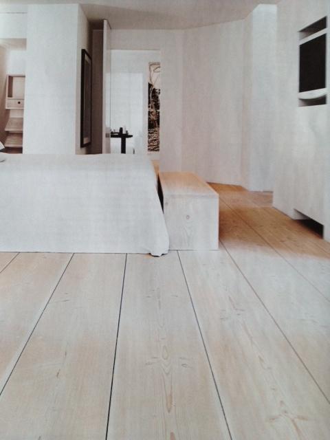 Beautiful wide floor boards