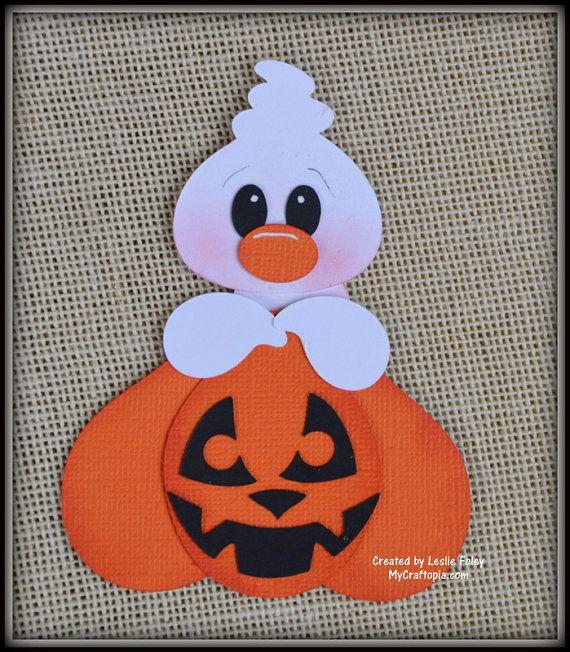 Fantasma y calabaza Halloween adorno de scrapbooking que papel