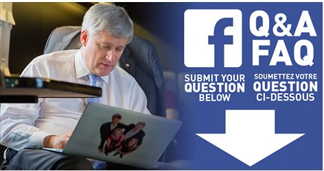 """Tory Who Resigned Over """"Freeloading Indians"""" Comments Helped Lob Softball Questions To PM On Facebook Conservative with controversial past was one of the few to receive an answer from the prime minister. Only invited guests are able to attend Stephen Harper's campaign rallies. But regular Canadians did get the chance to ask the prime minister questions during a public Q&A session with Facebook Tuesday afternoon."""