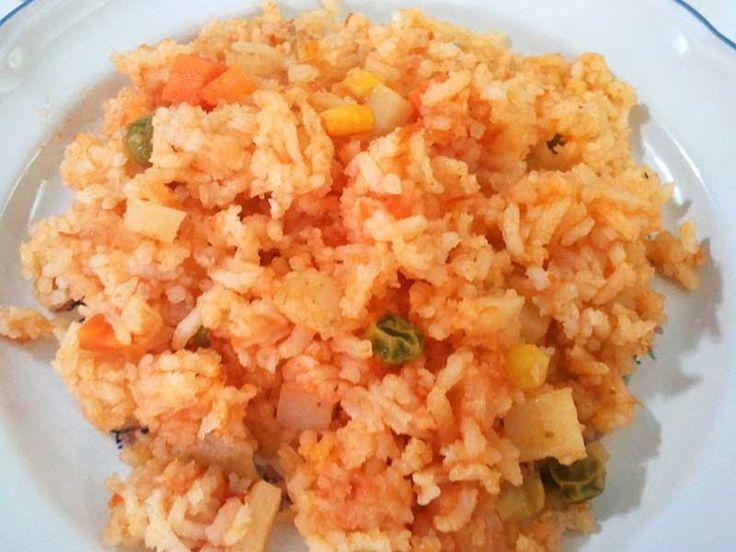 Recetas fáciles y deliciosas: Arroz rojo a la mexicana... Paso a pasito