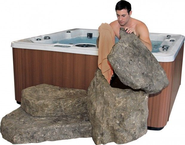 EcoRocks - Storage and Steps for Your Hot Tub & Swim Spa | PDC Spas. Very cool!