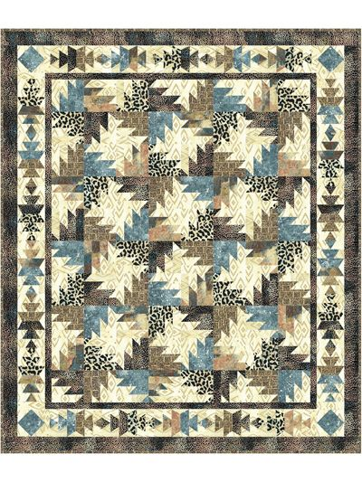 Use quick construction methods to make a traditional buzz-saw block and a not-so-traditional border block from easy-to-cut shapes. The finished motifs look southwestern, but this quilt would look fabulous in many fabrics and colors. It's a great way ...