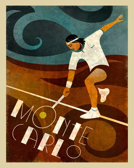 'Monte Carlo Tennis' by Benjamin Bay on artflakes.com as poster or art print $16.63