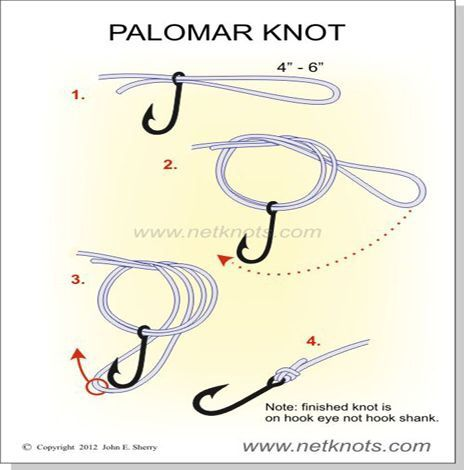 A fishing knot fishing pinterest fishing knots and knot for Fishing knots for braided line