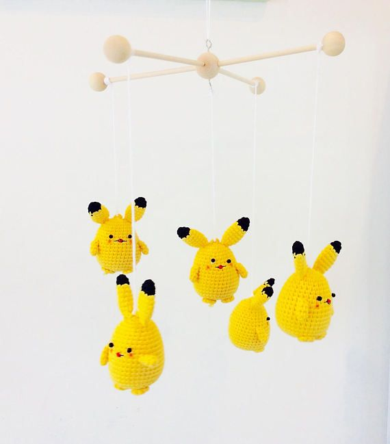 Pokemon Baby Mobile Crochet Baby Mobile Pokemon Baby Mobile