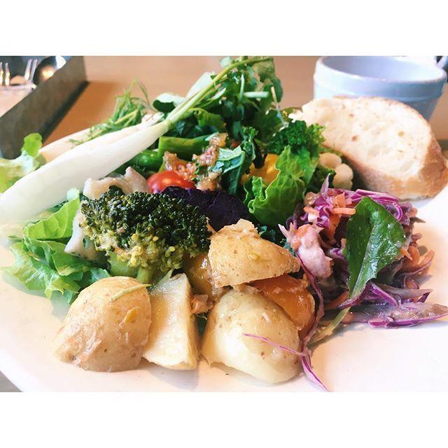 Cosme Kitchen Adaptation  前から気になっていたもののなかなか機会がなくて💦 今日ようやく行けました〜! .  とにかくお腹が空きすぎていたので、日向地鶏のコンフィと有機野菜やスーパーフードを自分の好みで好きなだけ食べられるサラダビュッフェ「CLEAN EATING BUFFET」をセットでいただきました🍴  サラダはもちろんドレッシングも手作りでこだわっていて、何を食べても身体にやさしいことしてる気分に浸れる、最高のお店だった〜¨̮♡ 軽い食事制限中にも関わらず野菜だからいいかな〜って、つい食べすぎちゃったけど...😂笑  おなかいっぱい食べれて幸せでした♥  #コスメキッチン #コスメキッチンアダプテーション #ヘルシー #野菜 #有機野菜 #デトックス #クリーン #クレンジング #ボディケア #ベジタブル #エイジングケア #ダイエット #グルメ #食べ物 #鶏 #肉 #instagood #instalike #vegetables #detox #diet #bodymake #healthy #food…