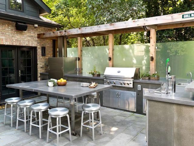 10 Ideen für eine Outdoor-Küchenlandschaft – Lady's Houses