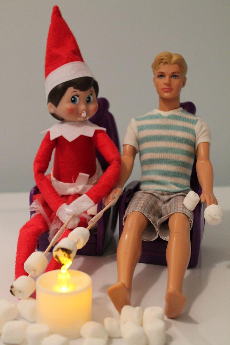 Elf on a shelf campfire