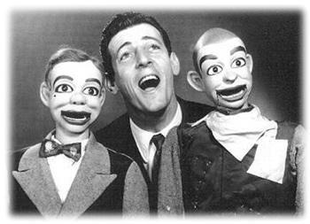 Paul Winchell with Jerry Mahoney and Knucklehead Smith