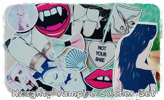 Check out this item in my Etsy shop https://www.etsy.com/listing/524411093/sale-12x-large-vampire-girl-stickerssexy