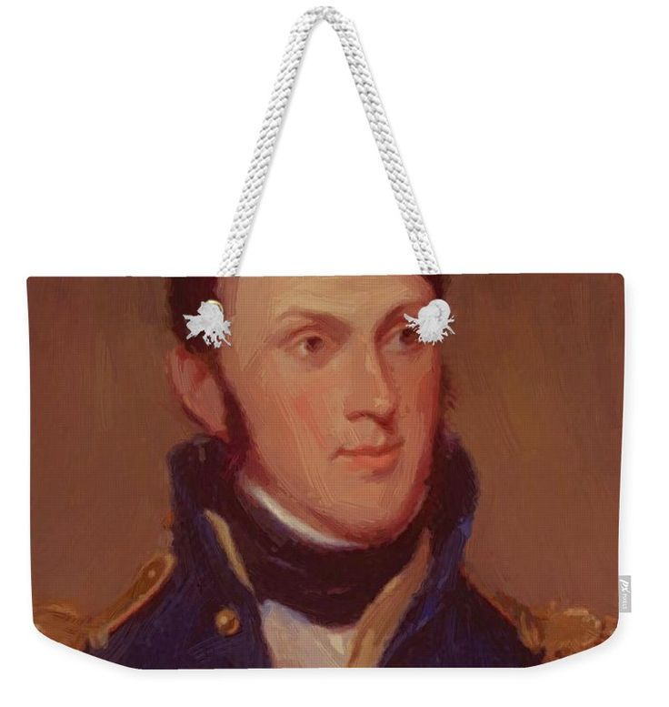 Stephen Weekender Tote Bag featuring the painting Stephen Harriman Long 1819 by Peale Charles Willson