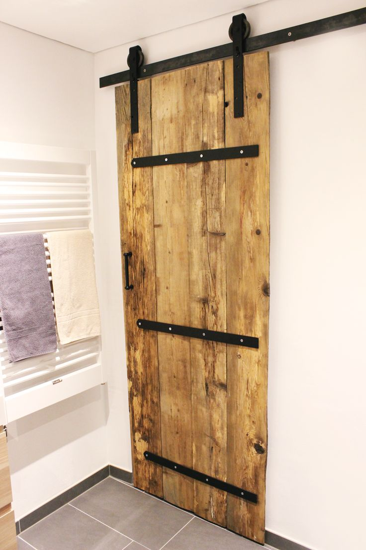 Diy Sliding Barn Door Pipe Sliding Barn Door From Reclaimed Pallet Wood We Could Make A Door