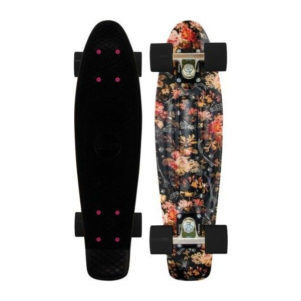 "Penny Plastic Original Floral Black Complete Skateboard Cruiser 6"" x... ($97) ❤ liked on Polyvore featuring skateboards, accessories, fillers, skate and penny boards"