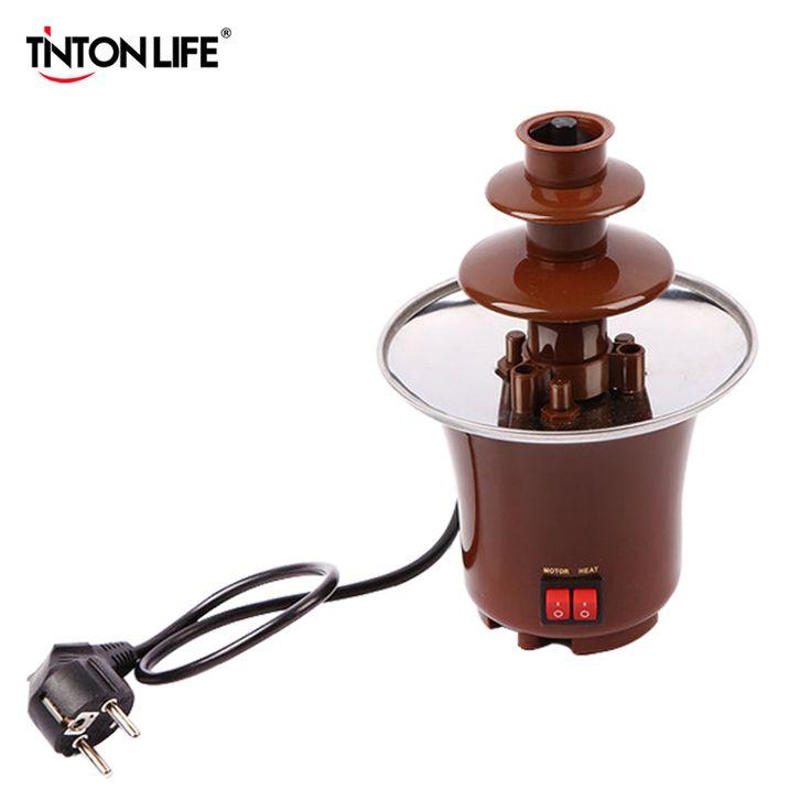 TintonLife Diseño Creativo Mini Máquina Fondue de Chocolate Fuente de Chocolate Para La Venta Se Funde Con Calefacción