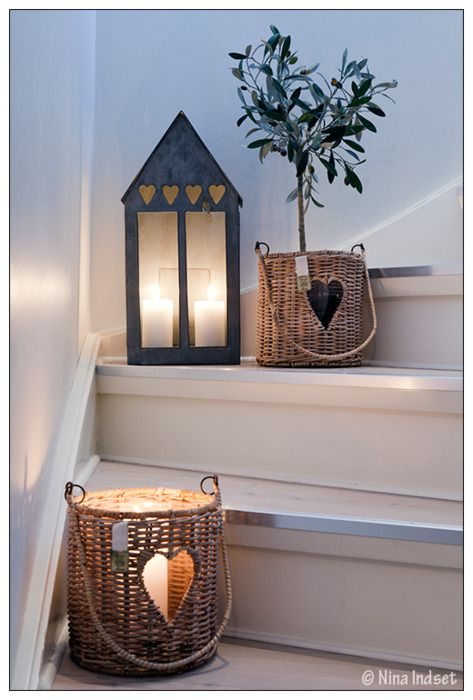 A few nicely placed items on the stairway and you could use candle holders to help illuminate it