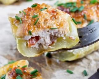 Courgettes légères farcies au fromage frais et jambon de Parme : http://www.fourchette-et-bikini.fr/recettes/recettes-minceur/courgettes-legeres-farcies-au-fromage-frais-et-jambon-de-parme.html