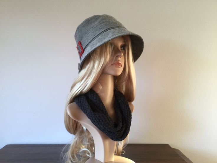 Grey 1920s inspired cloche hat, size 58 to 60 cm - pinned by pin4etsy.com