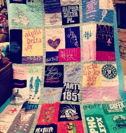 ΑΔΠ t-shirt quilt