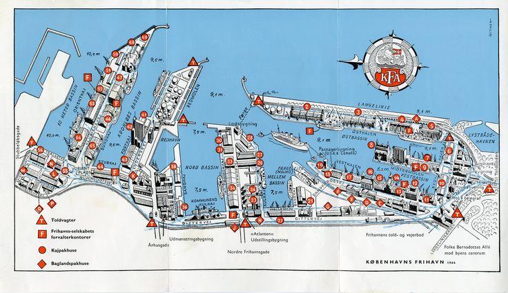 Kort over Frihavnen fra 1964.