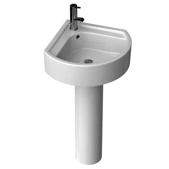 Small corner pedestal bathroom sink my web value - Small corner bathroom sinks ...