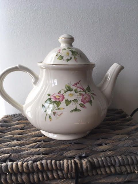 Vintage English Ironstone  Tea Pot by AnEVintages1 on Etsy