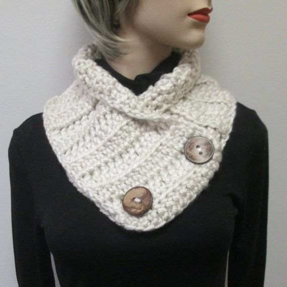 Cream Womans Chunky Scarf, Chunky Knit Scarf, Winter Knit Scarf ...