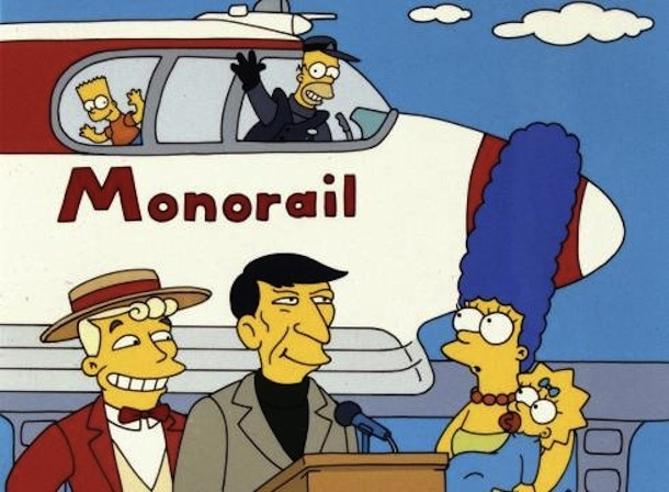 The Simpsons got monorail so right...