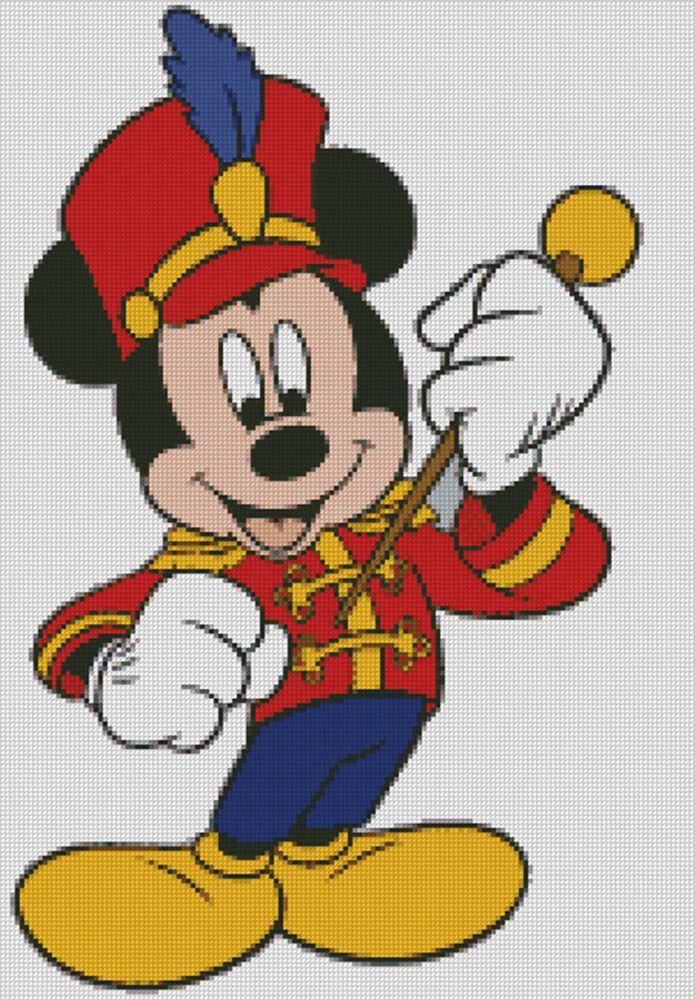 Disney Magic Mickey Mouse Cartoon Counted Cross-Stitch Needlepoint Pattern Chart