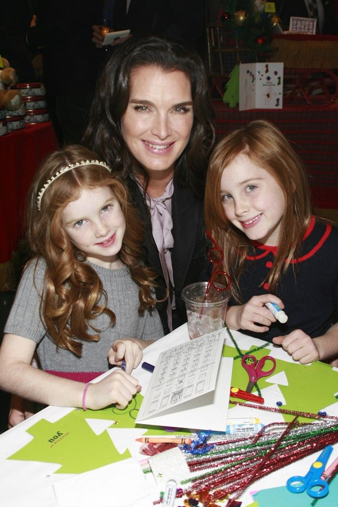 Brooke Shields with daughters Grier and Rowan.  [Photo by Sylvain Gaboury]