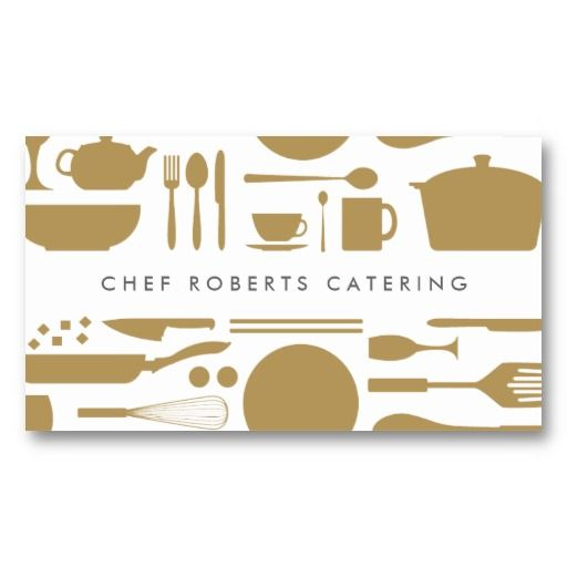 GOLD KITCHEN COLLAGE BUSINESS CARD