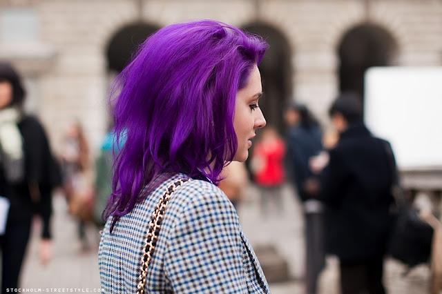 lindo cabelo roxo: