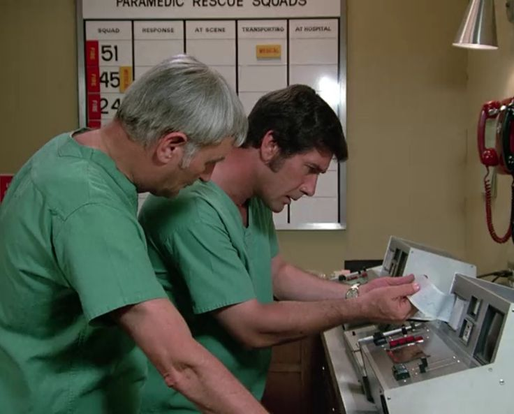 """Dr. Joe Early (Bobby Troup) and Dr. Kelly Brackett (Robert Fuller), """"The Tycoons"""""""