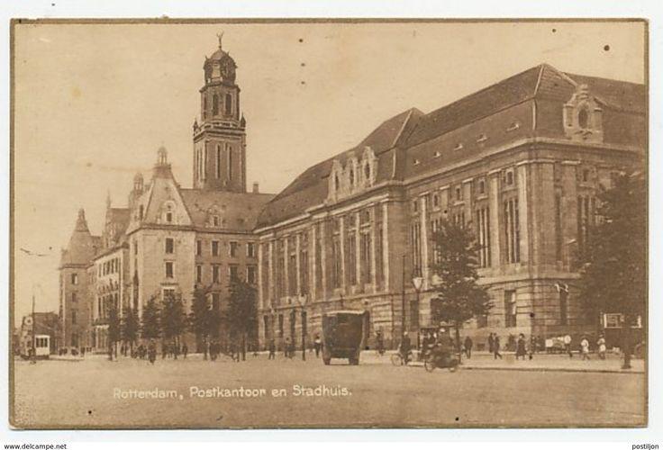 Prentbriefkaart Postkantoor Rotterdam 1924 - Pays-Bas