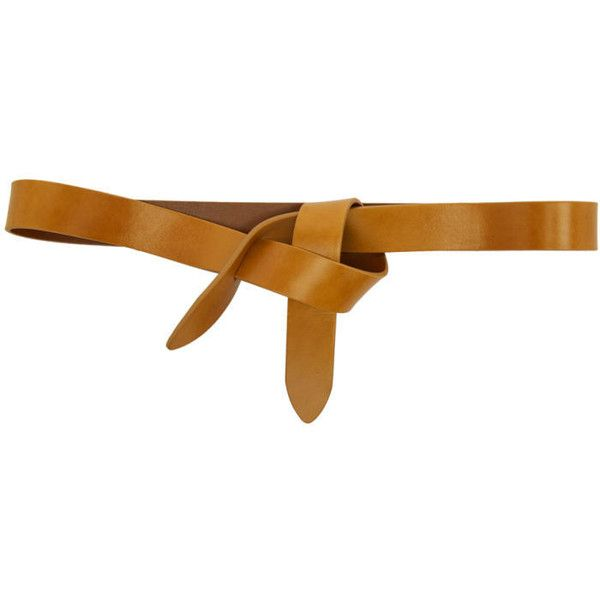 Isabel Marant Tan Leather Lecce Belt ($120) ❤ liked on Polyvore featuring accessories, belts, tan, tan belt, isabel marant and isabel marant belt
