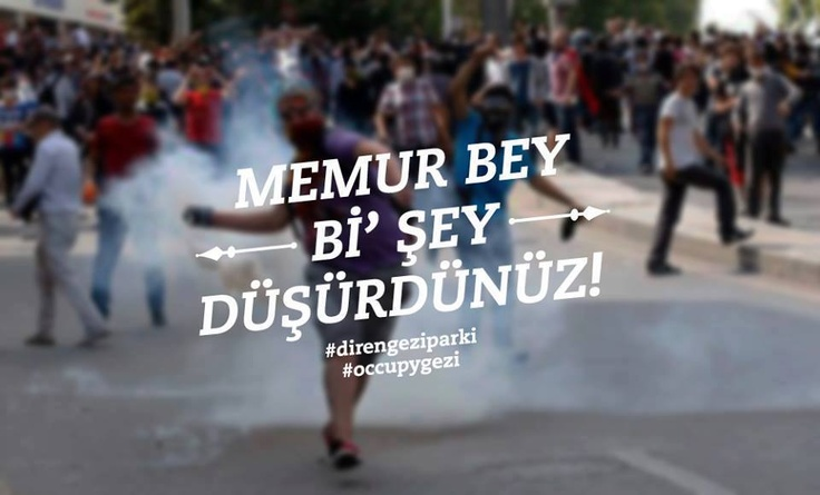 -Officer you dropped something !   -It seems like a tear gas can.