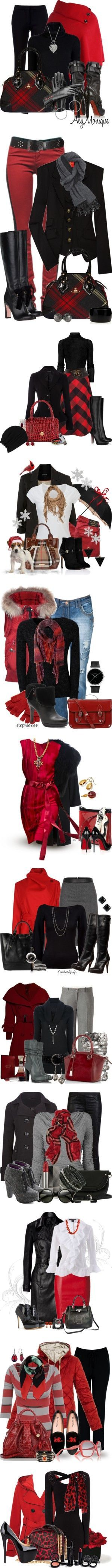 """Red and Black Contest"" by jackie22 ❤ liked on Polyvore"