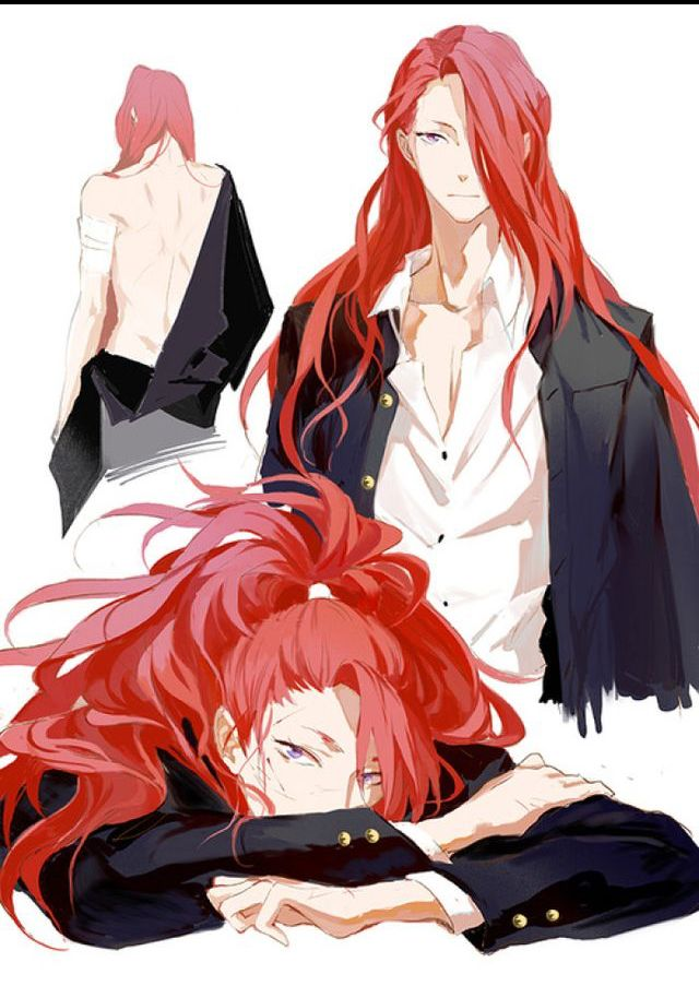 Pin By Kasandra King On Arty Red Hair Anime Guy Handsome Anime Guys Handsome Anime