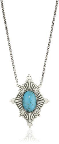 """Dudine """"Mexican Vagabond"""" Turquoise Diamond Pendant Necklace Dudine. $100.00. Made in China"""